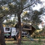 Camping at Cork Waterhole, Diamantina River.