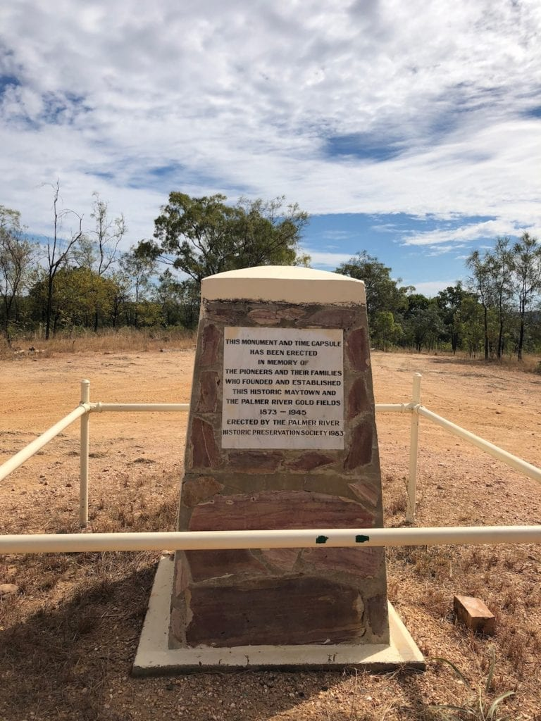 Monument at Maytown, Palmer River Goldfields.