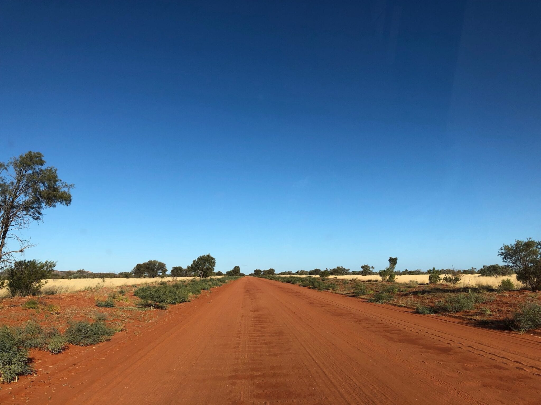 In the Red Centre on the Plenty Highway.