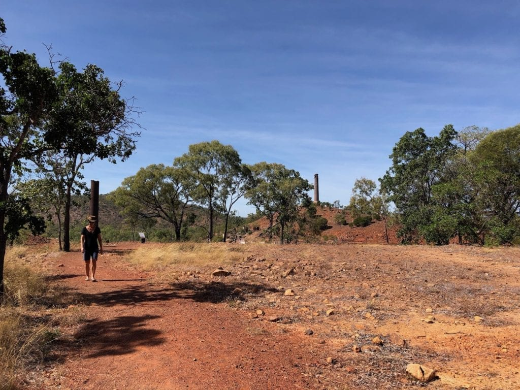 The Mine Superintendents' house site at Chillagoe copper smelter.