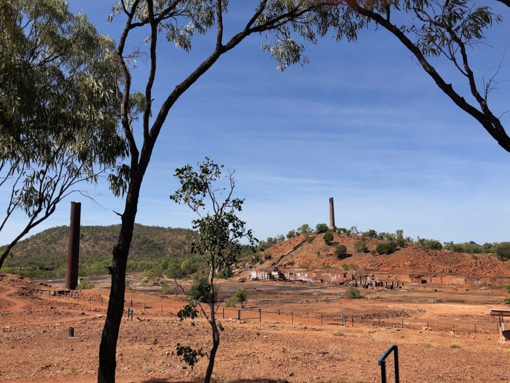 The view from the Mine Superintendents' house at Chillagoe copper smelter.