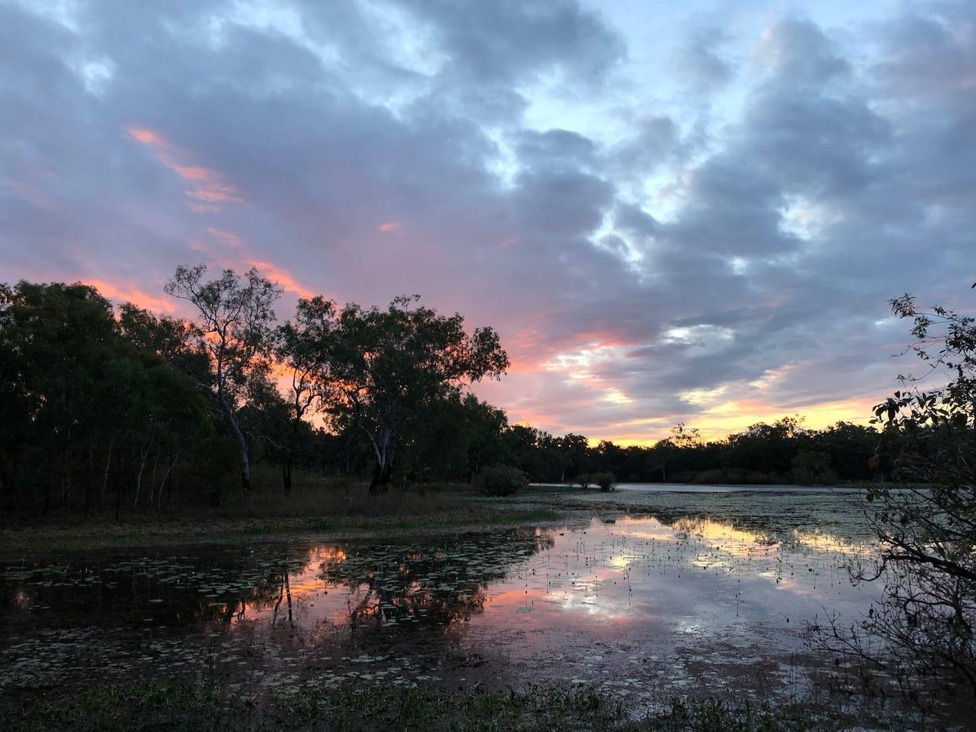 Sunset over Horseshoe Lagoon.