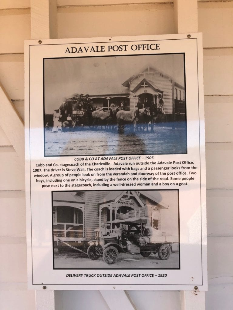 An example of the many photos on display at the Adavale Community Hall.