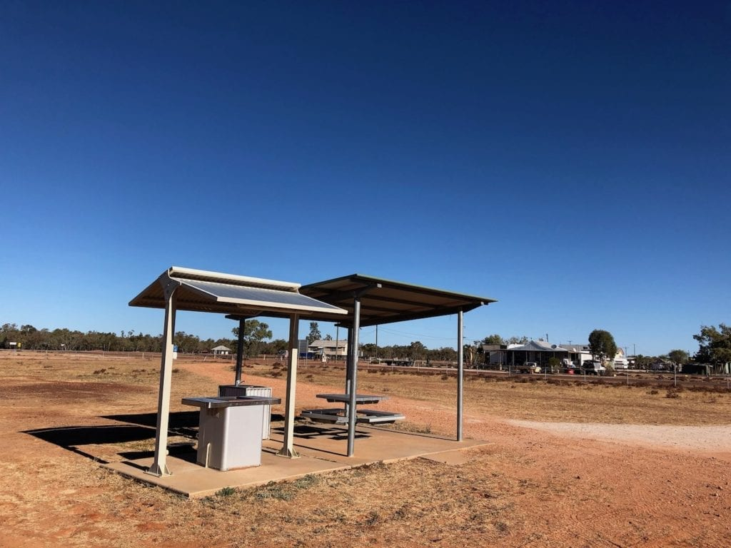 BBQ facilities outside the Adavale Community Hall.