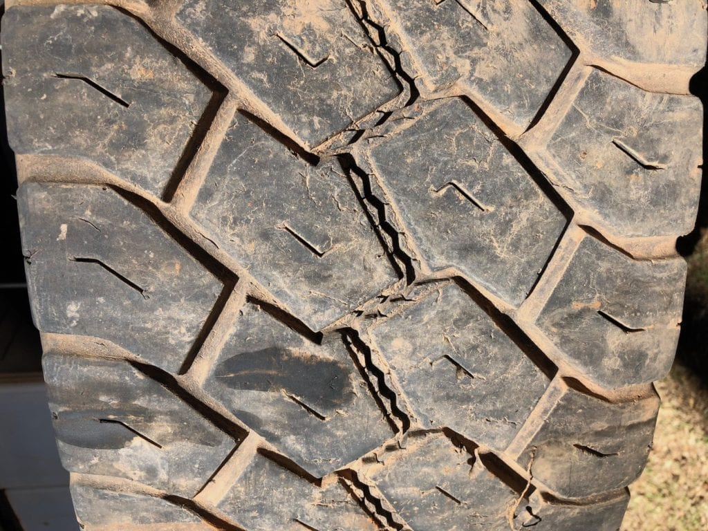 Left spare tyre wear. Toyo Tyres Review.