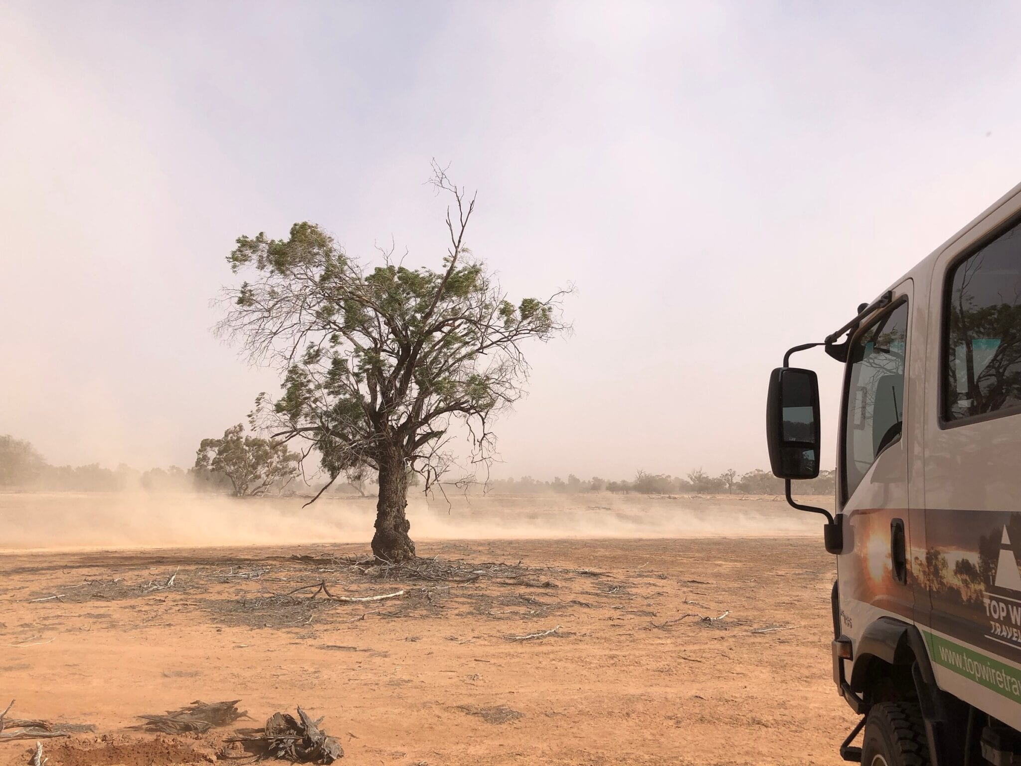 A dust storm. NSW drought.