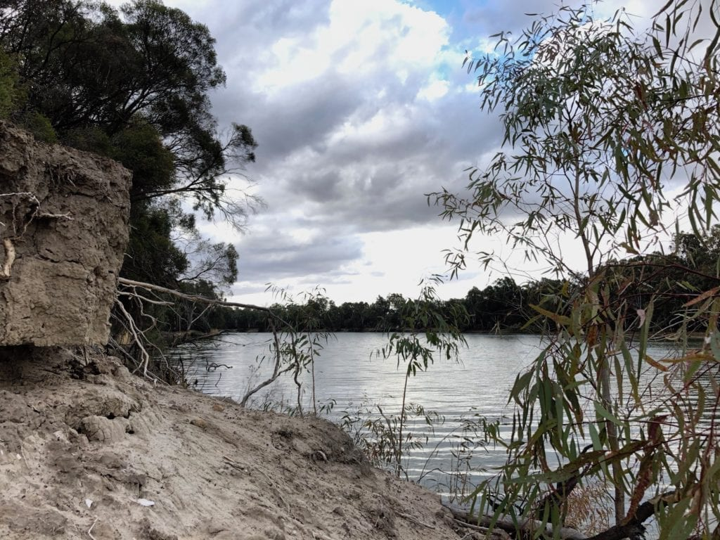 Camping on the Murray River at Murray Sunset National Park.