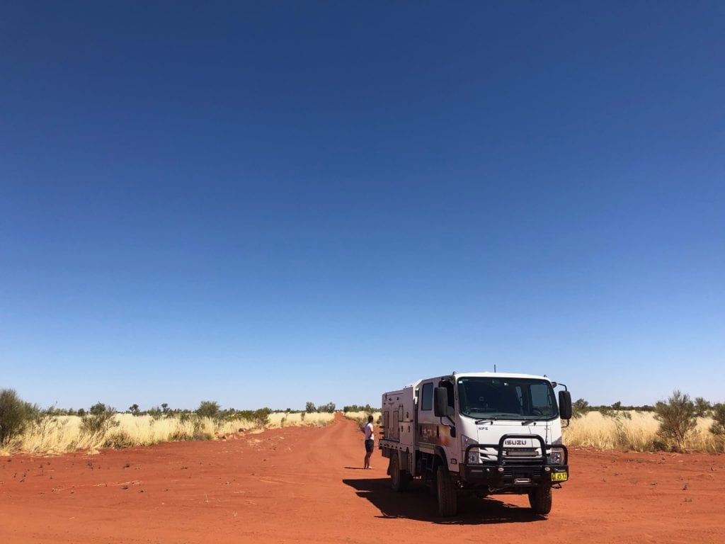 The Canning Stock Route, disappearing to the south. Gary Junction To Marble Bar.