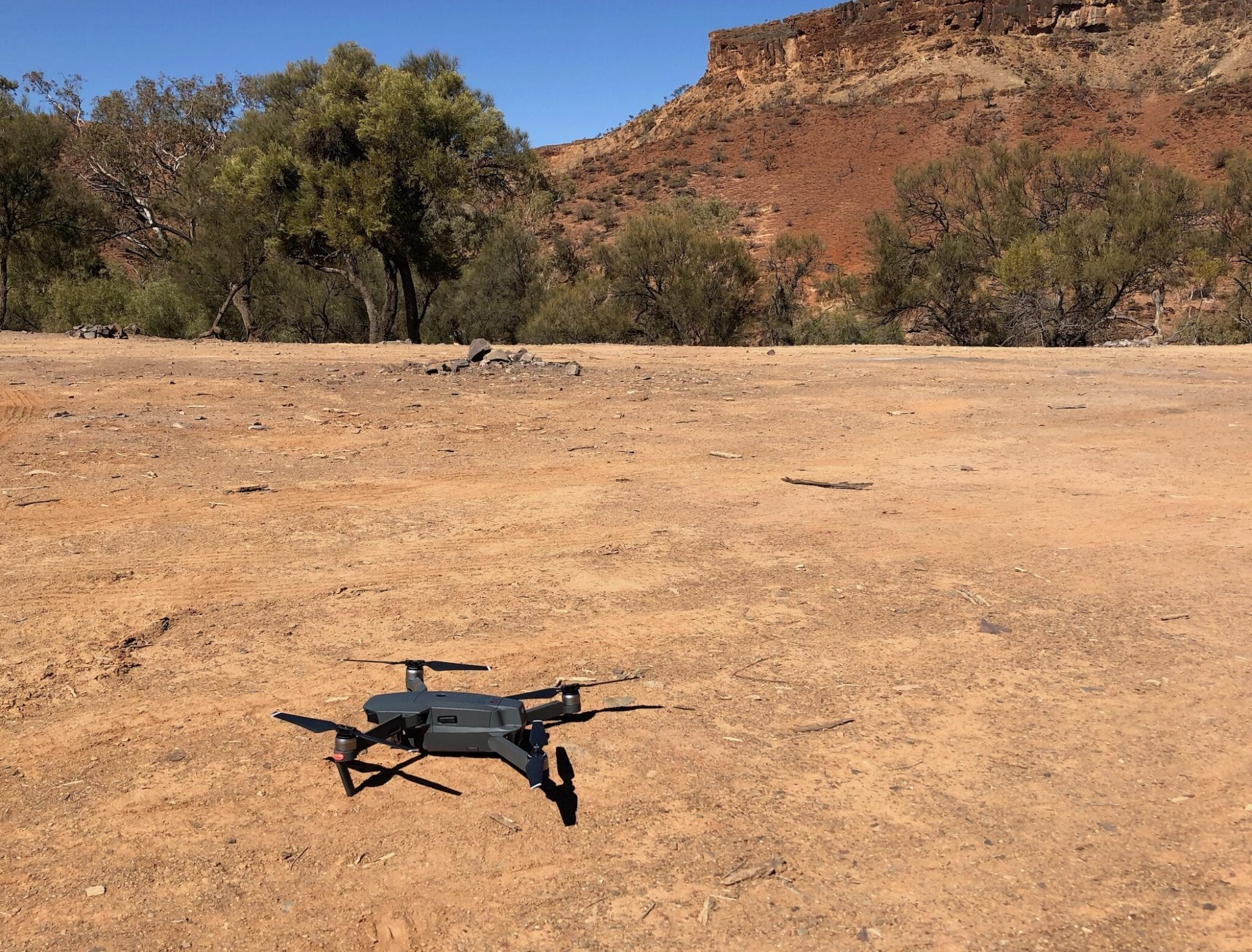 Ready to fly our DJI Mavic Pro for the first time.