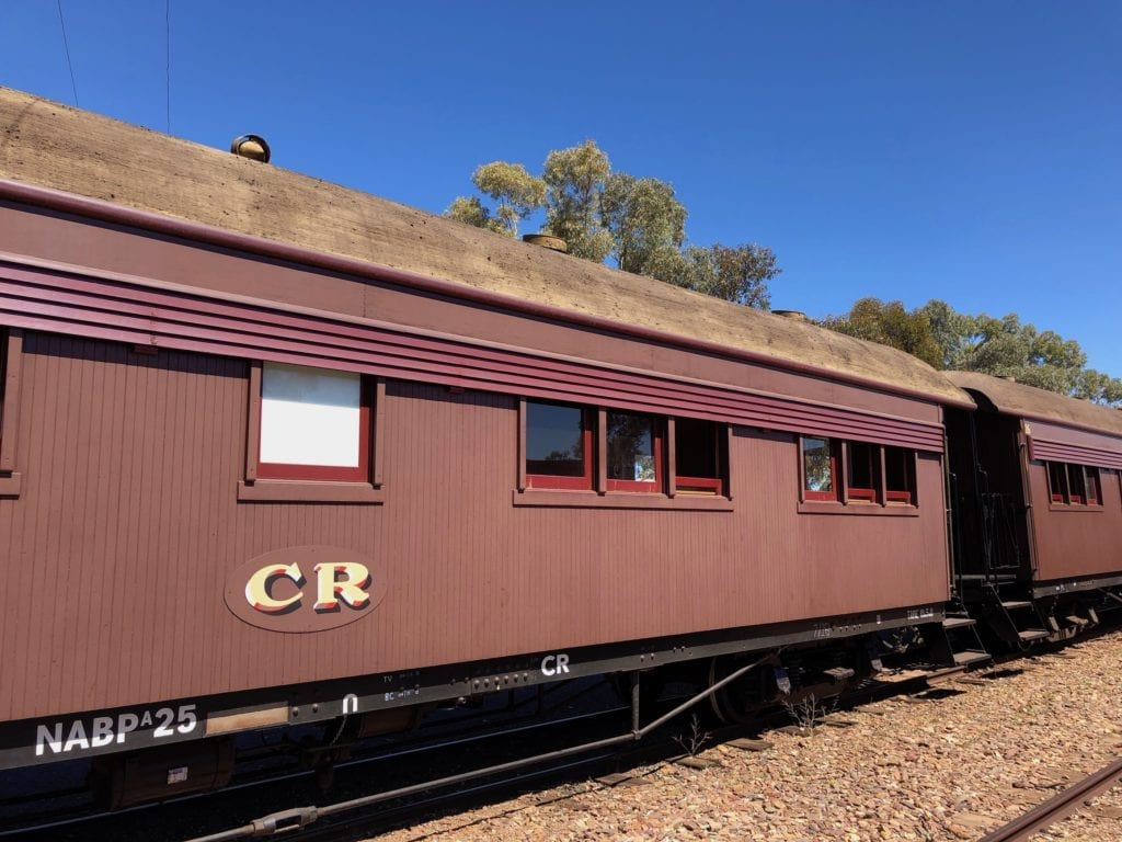 A passenger carriage of the Old Ghan, Quorn SA.