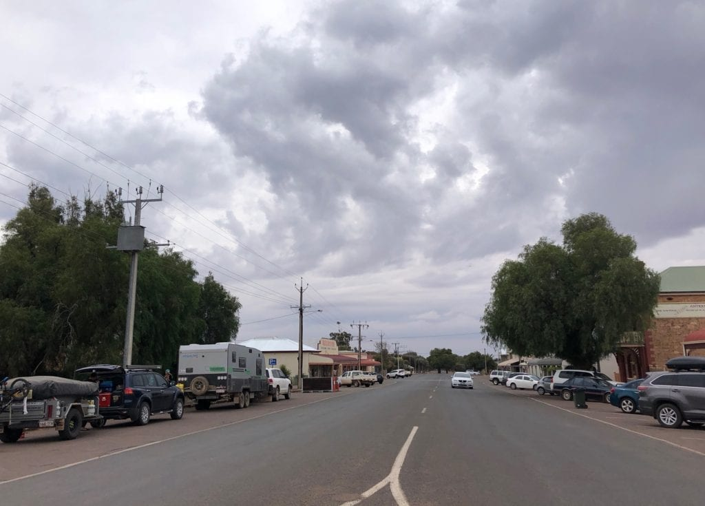 The main street of Quorn S.A., 2018. Old Ghan.