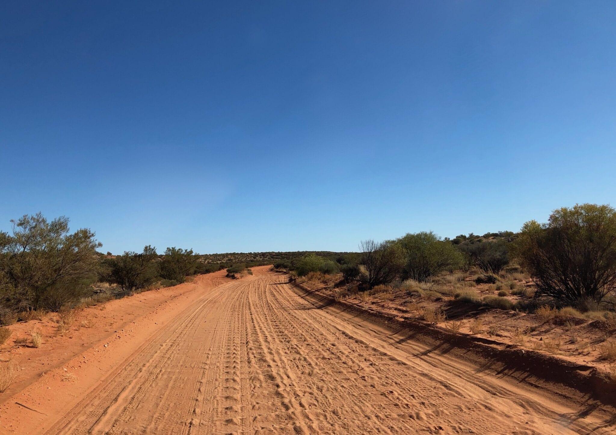 The Finke track is heavily corrugated.