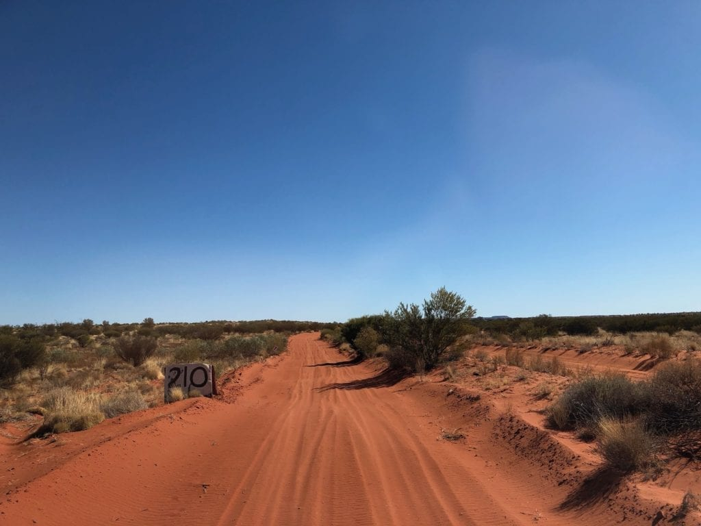 In the Sand Dunes Between Finke and Alice Springs