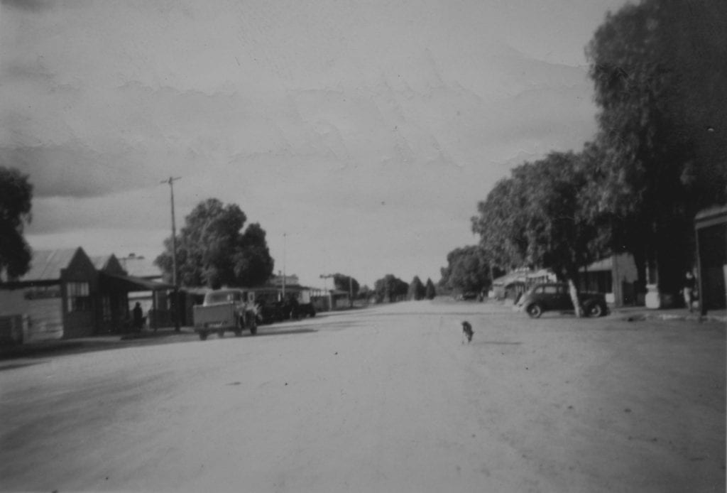 The main shopping centre at Quorn S.A. 1950. Old Ghan.