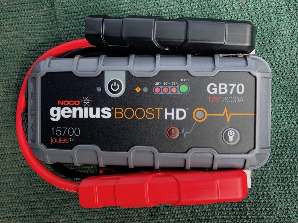 NOCO Genius Boost GB70 portable jump starter.