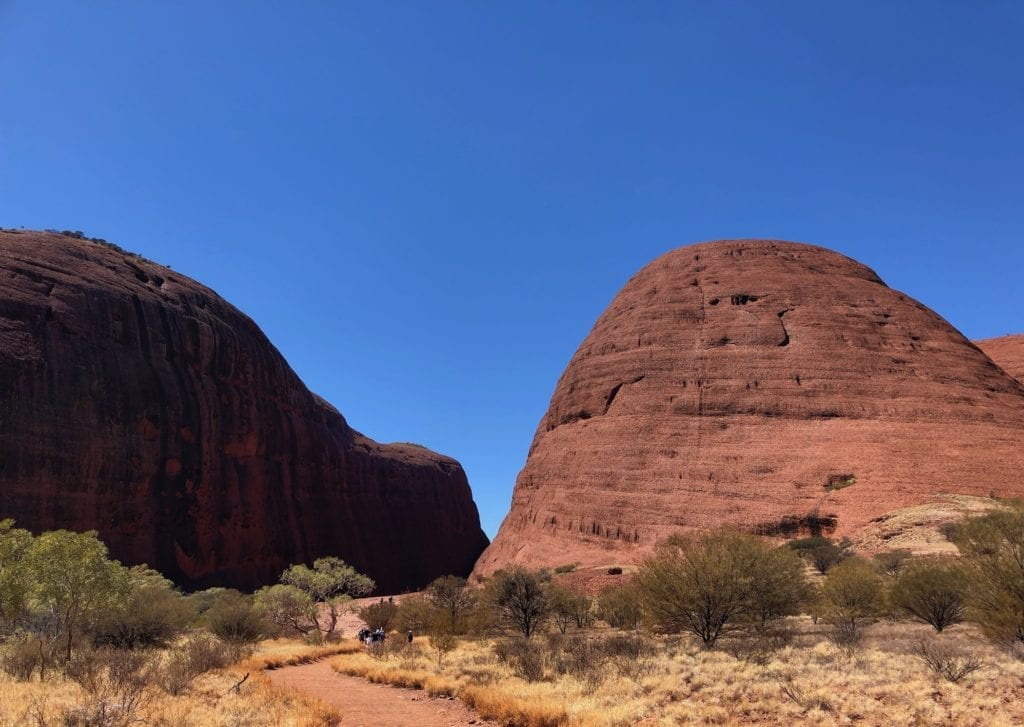 At the start of the Walpa Gorge walk, Kata Tjuta.