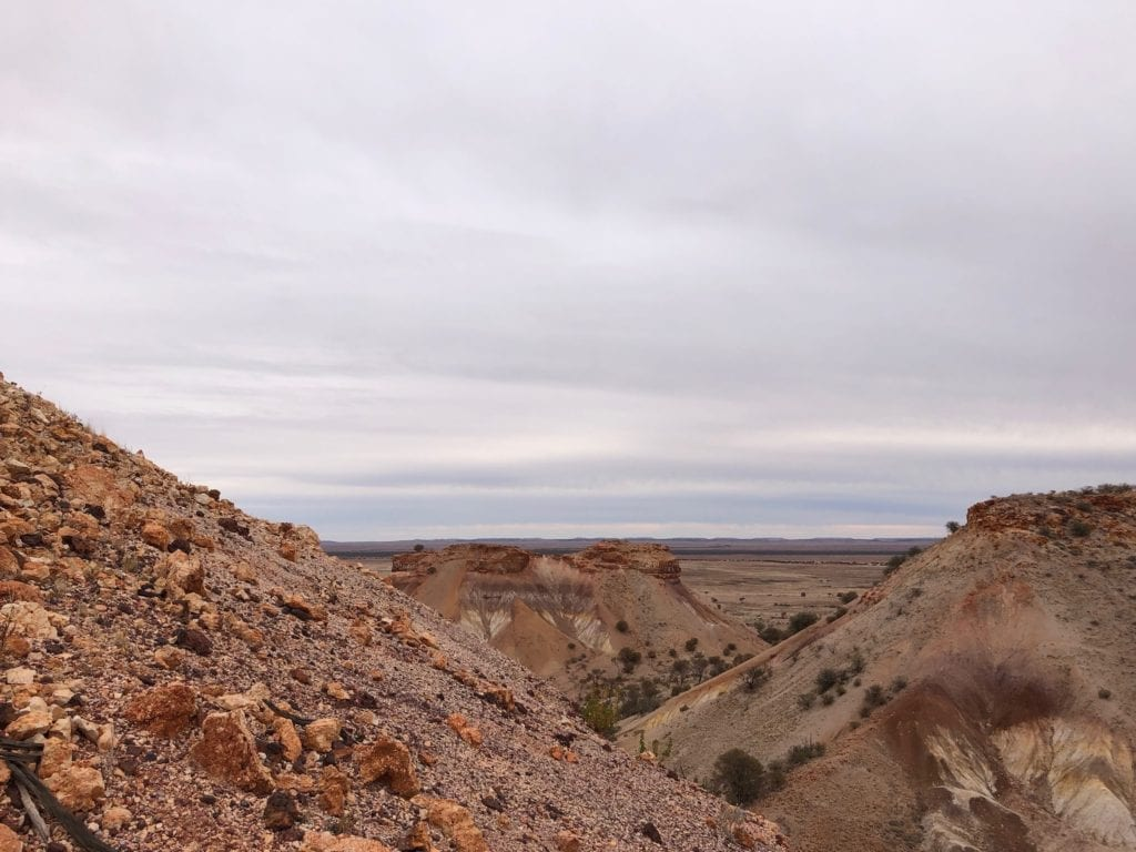 The hills of the Painted Desert SA consist of billions of small pieces of shale.