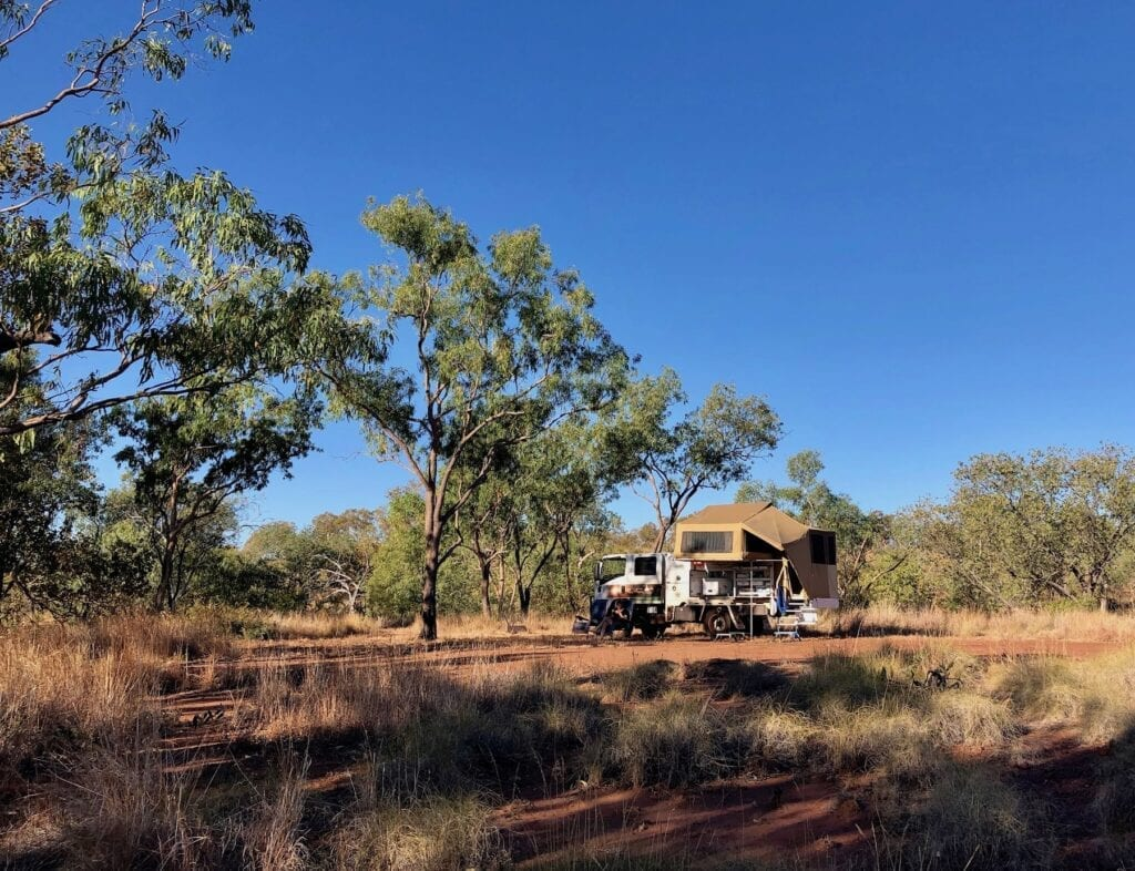 Camped at Depot Creek, Judbarra / Gregory National Park.