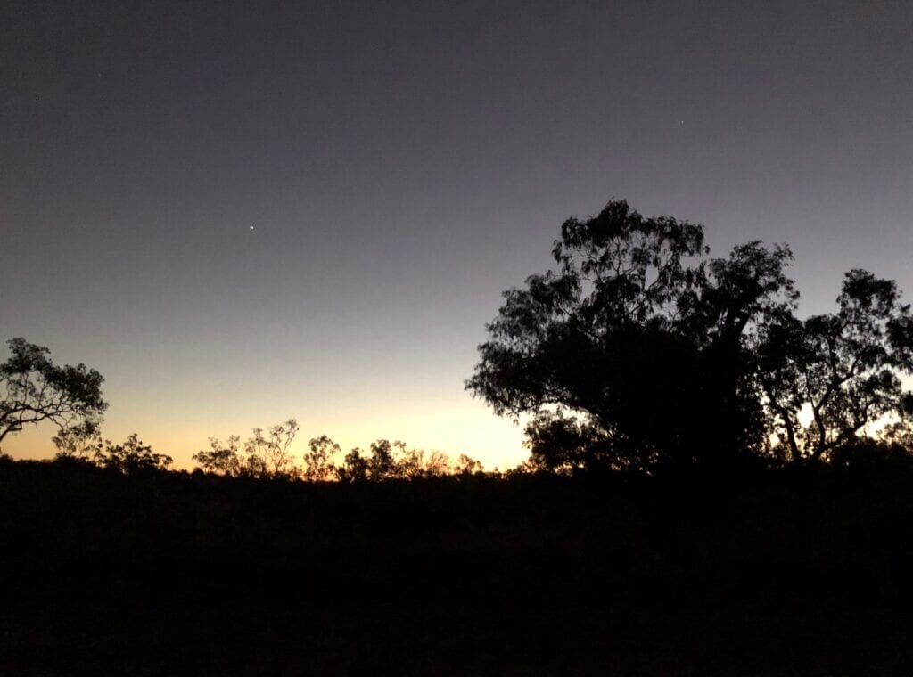 Sunset at Depot Creek Campground, Judbarra / Gregory National Park.