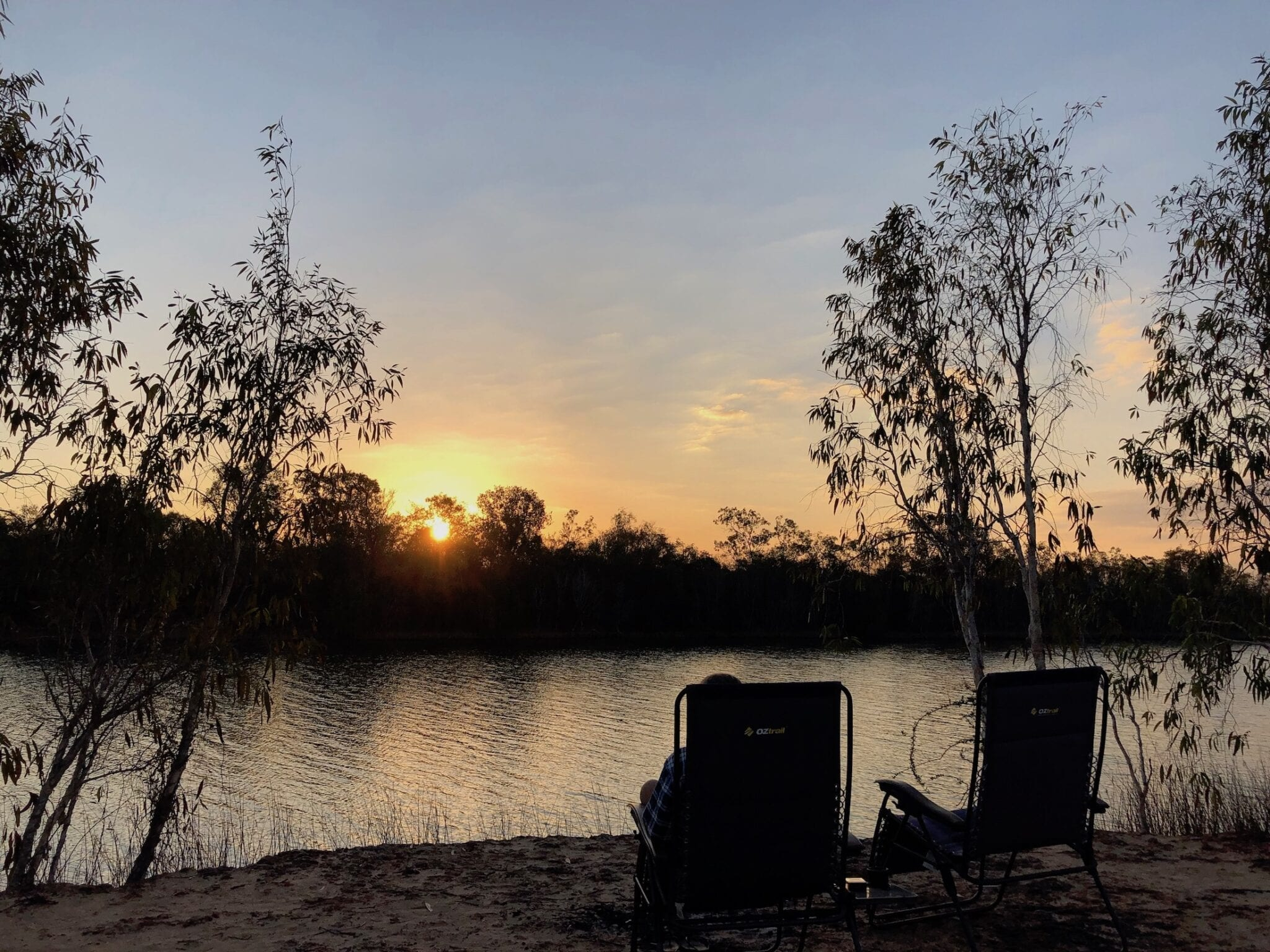 Sunset across Towns River. Between Roper Bar and Borroloola.
