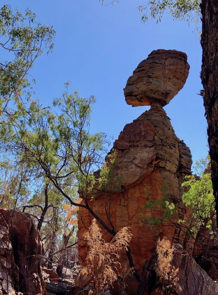 A human-like sandstone column, Southern Lost City NT.