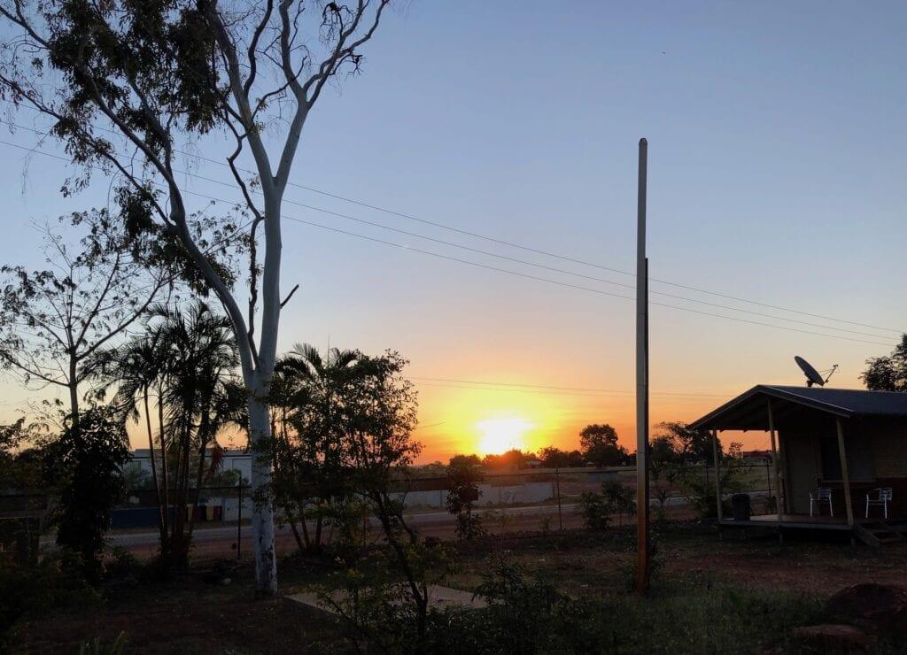 Sunset at Borroloola, NT.