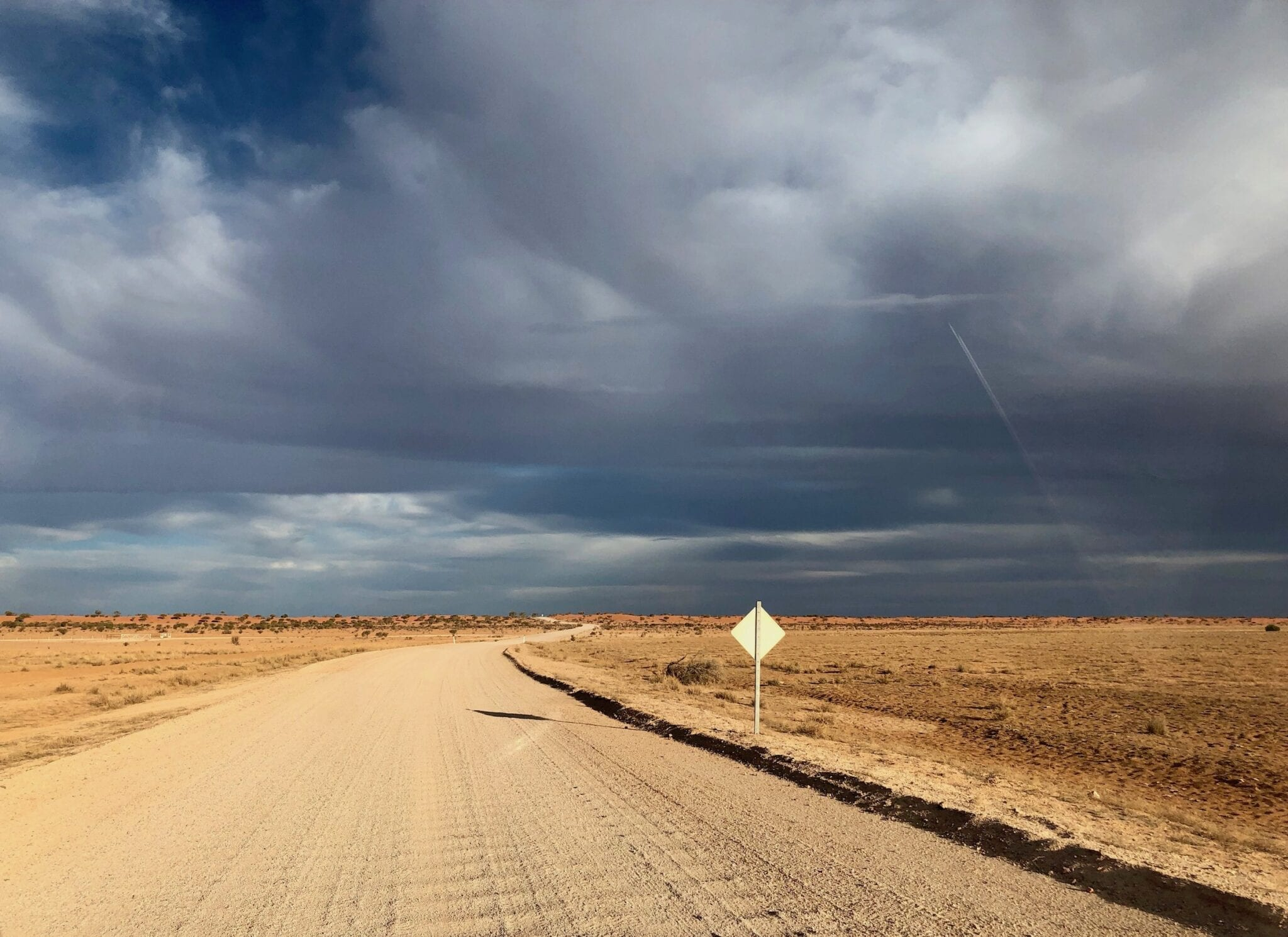 Driving on dirt roads through north-east South Australia.