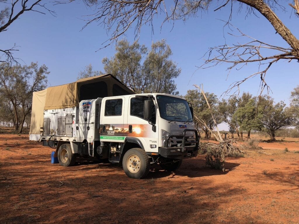 Camped at a start control during the Sunraysia Safari.
