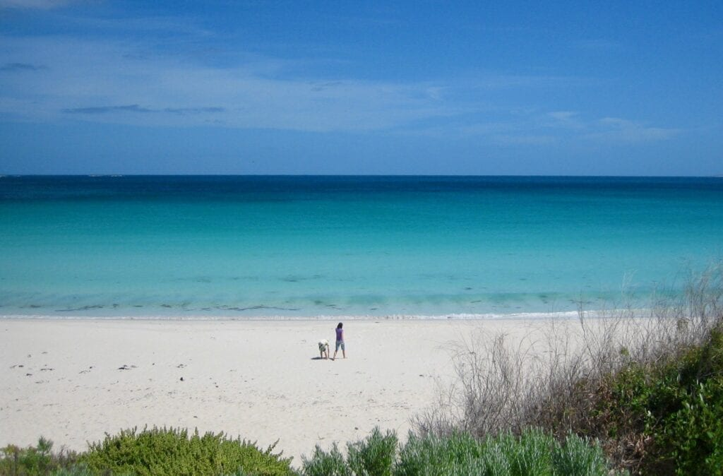 Just one of the thousands of beautiful beaches you'll see when you travel around Australia.