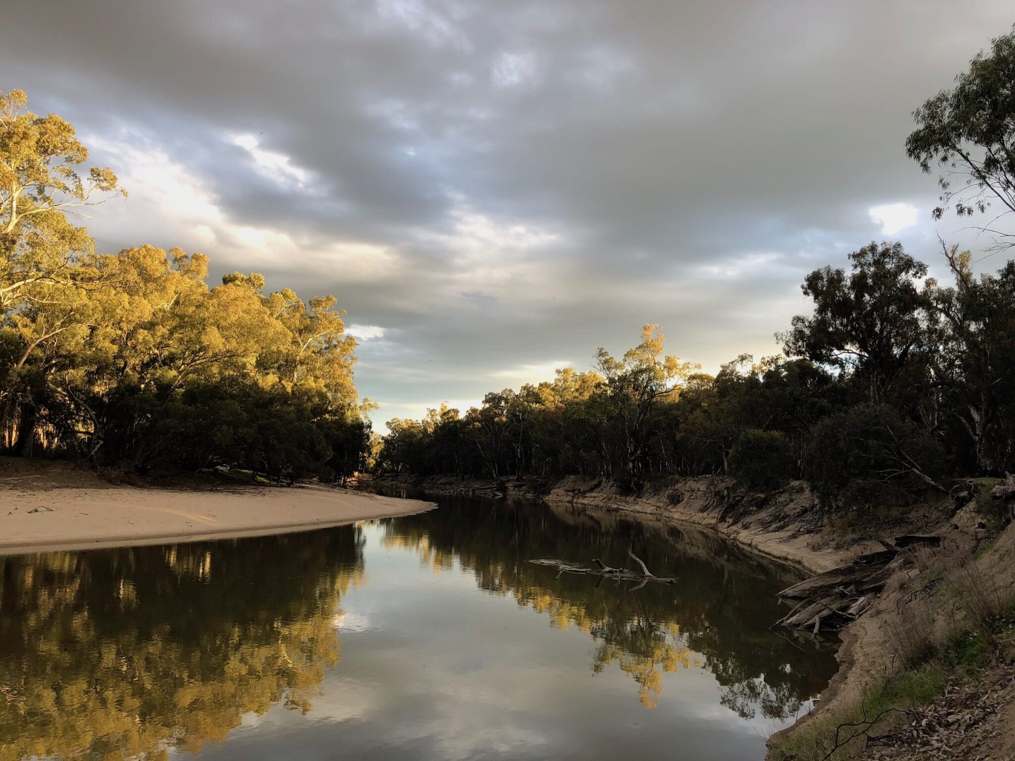 Camped on the Murrumbidgee River, Murrumbidgee Valley Regional Park.