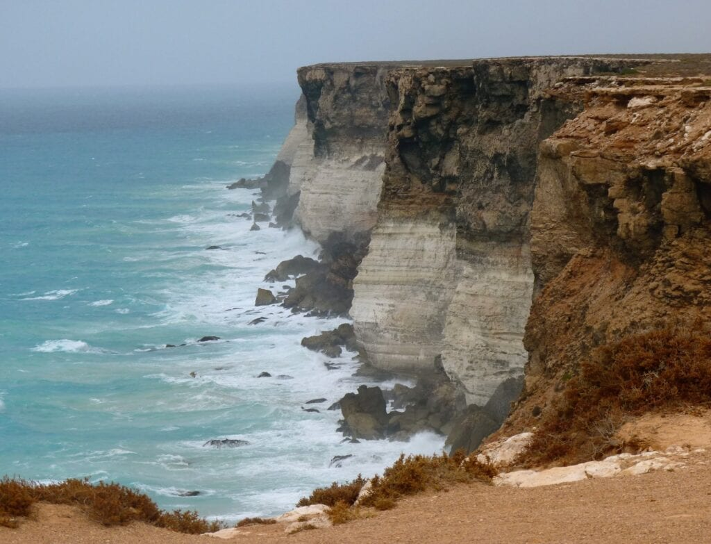 The cliffs of the Great Australian Bight, Nullarbor Plain.