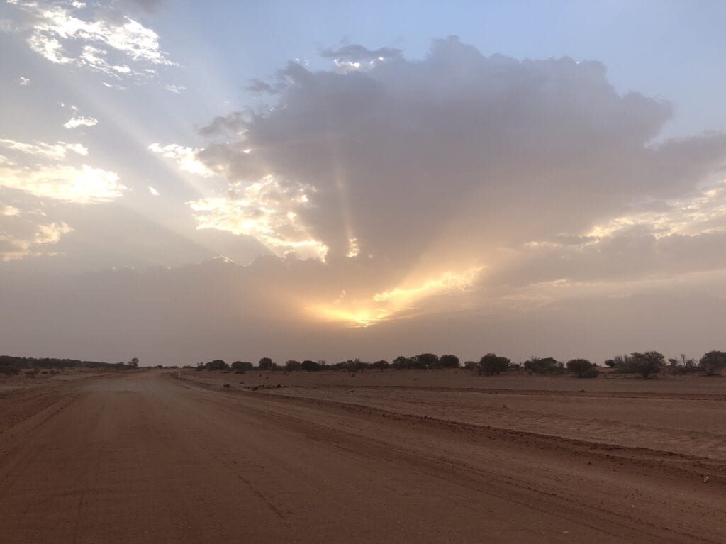 A beautiful outback sunset, Corner Country New South Wales.