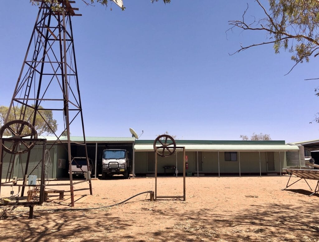 Living quarters at Fort Grey, Sturt National Park NSW. Where we stayed during our caretaker role at Fort Grey.