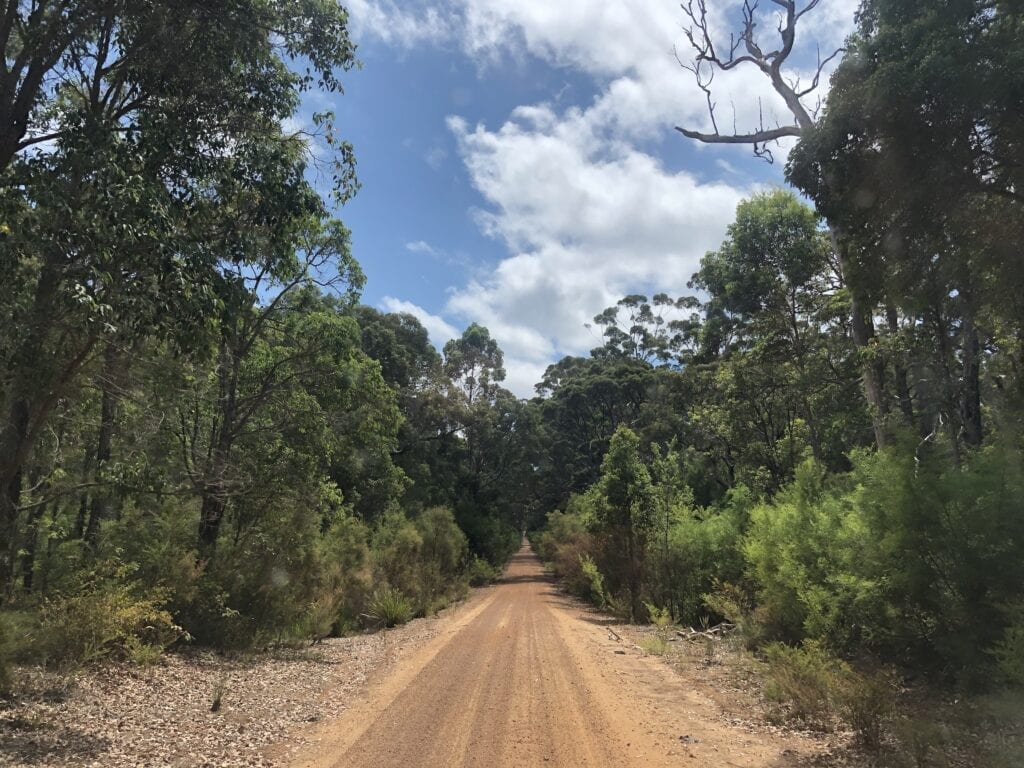Chesapeake Road, South-West Western Australia.