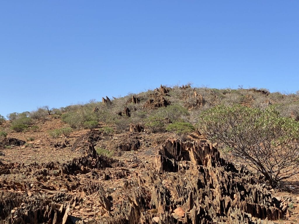 The brutal landscape which surrounds Depot Glen, NSW