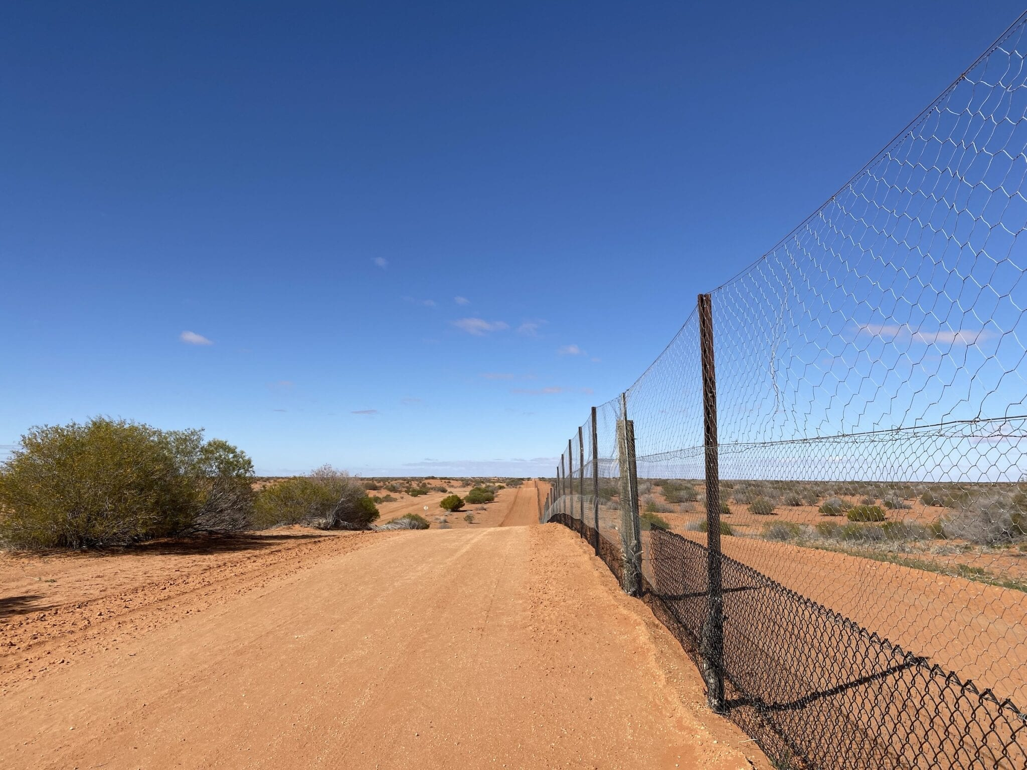 The dingo fence north of Smithville, far western NSW.