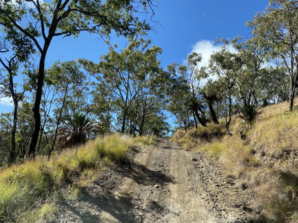 The steep High Country drive at Mount Moffatt, Carnarvon Gorge National Park, QLD.