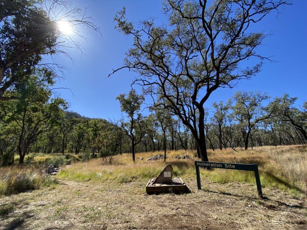 The Incineration Site at Mount Moffatt, Carnarvon Gorge National Park, QLD.
