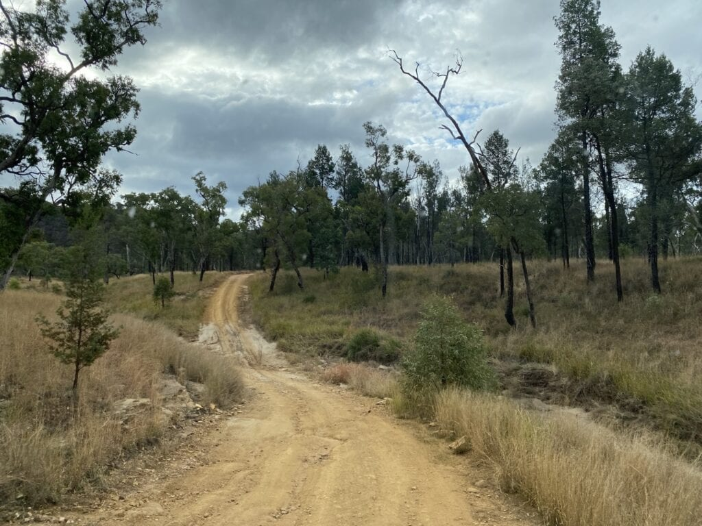The road into Mount Moffatt, Carnarvon Gorge National Park, QLD is rough and slow in places.