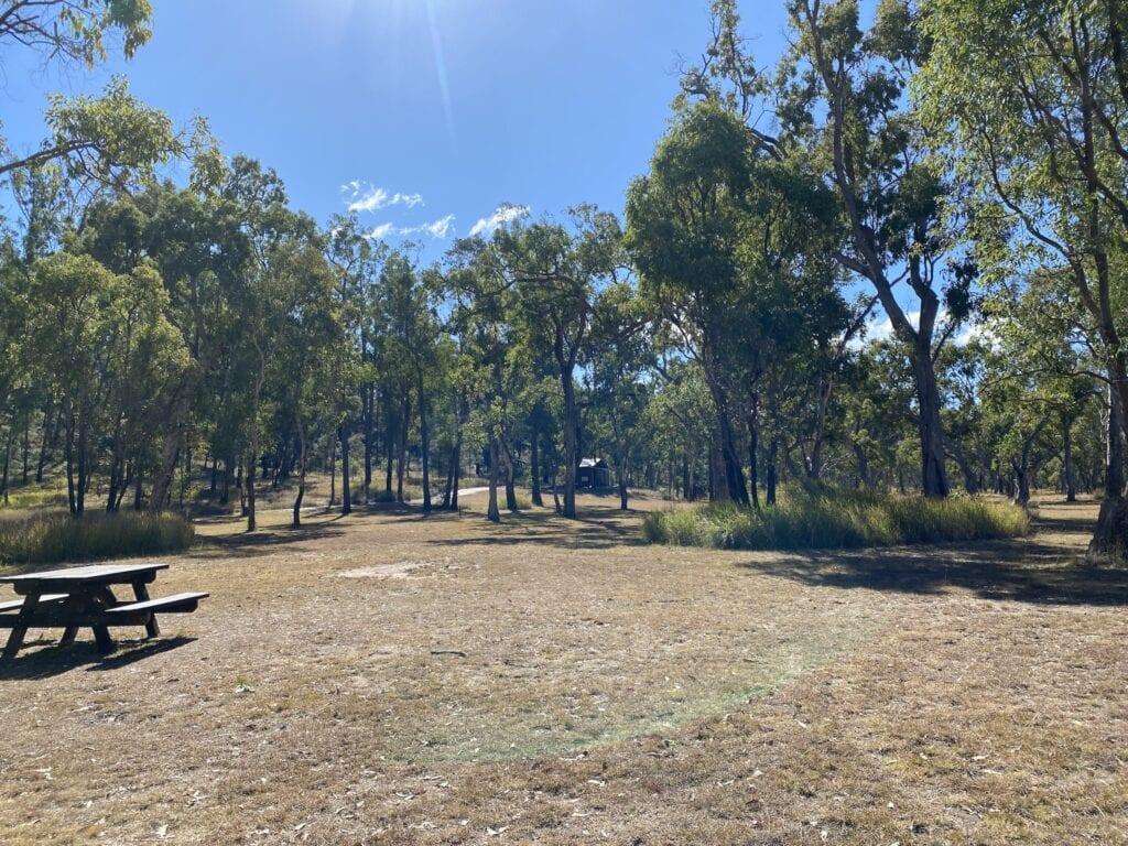 West Branch campground at Mount Moffatt, Carnarvon Gorge National Park, QLD.