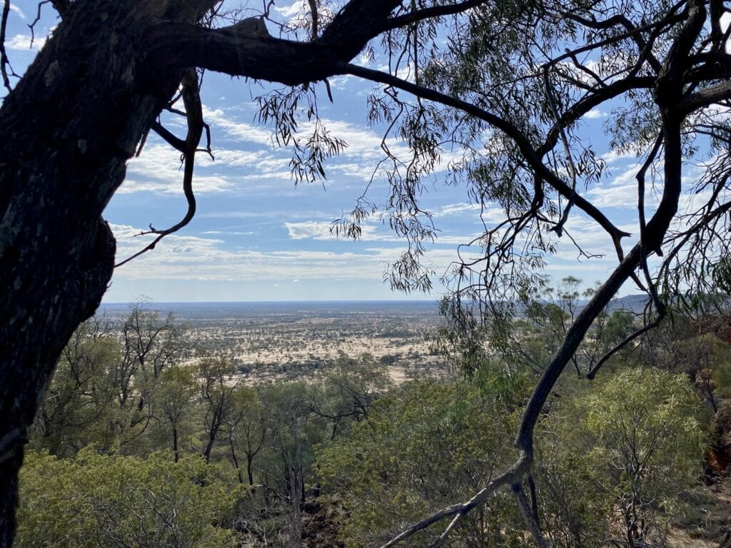 View from the Bullock Gorge Walk, Idalia National Park QLD.