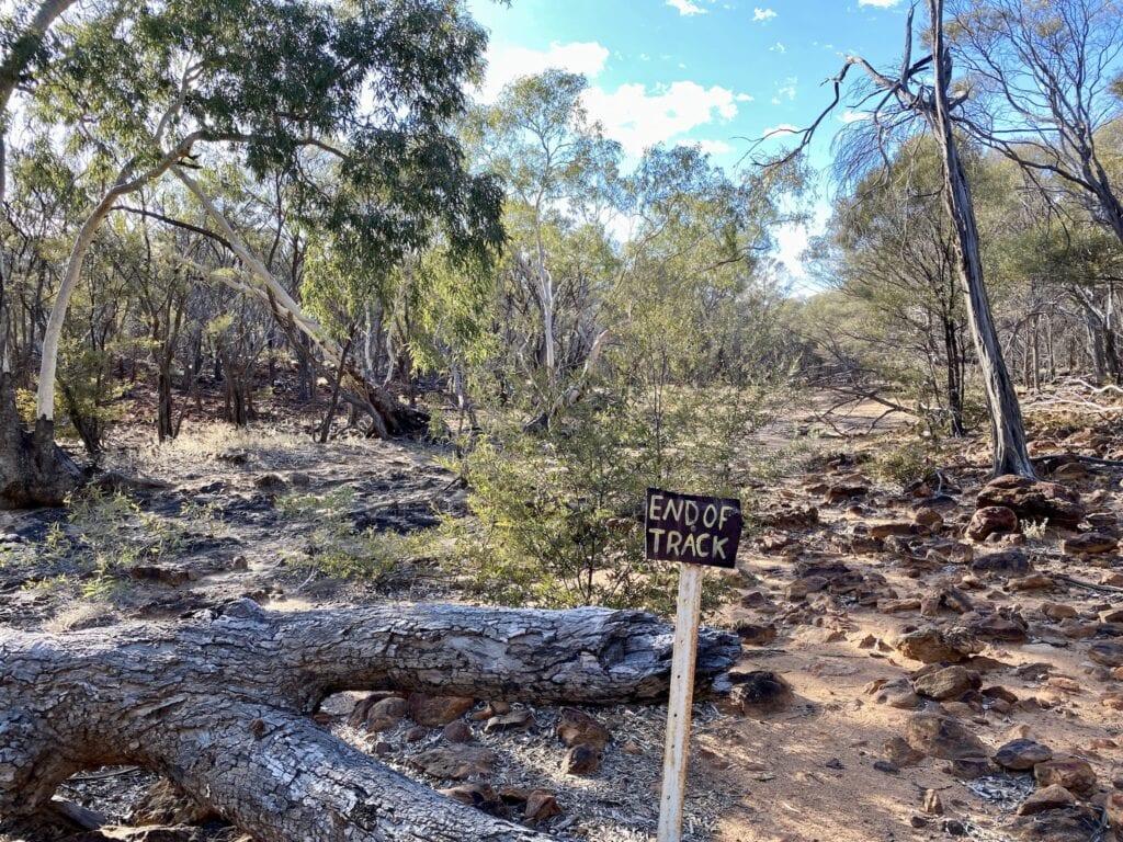 The end of the track on Emmet Pocket Walk. Idalia National Park QLD.