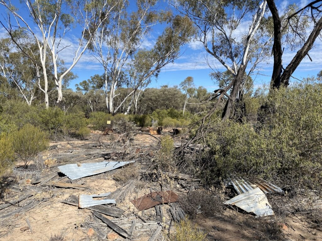 The remains of an old slab hut, Idalia National Park QLD.