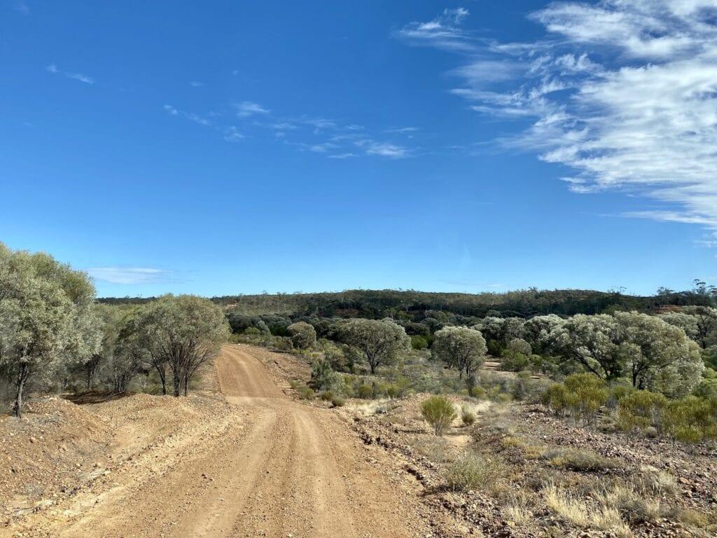 Driving through Idalia National Park, QLD.