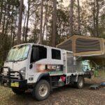 Isuzu 4WD truck with Wedgetail Camper in northern NSW.