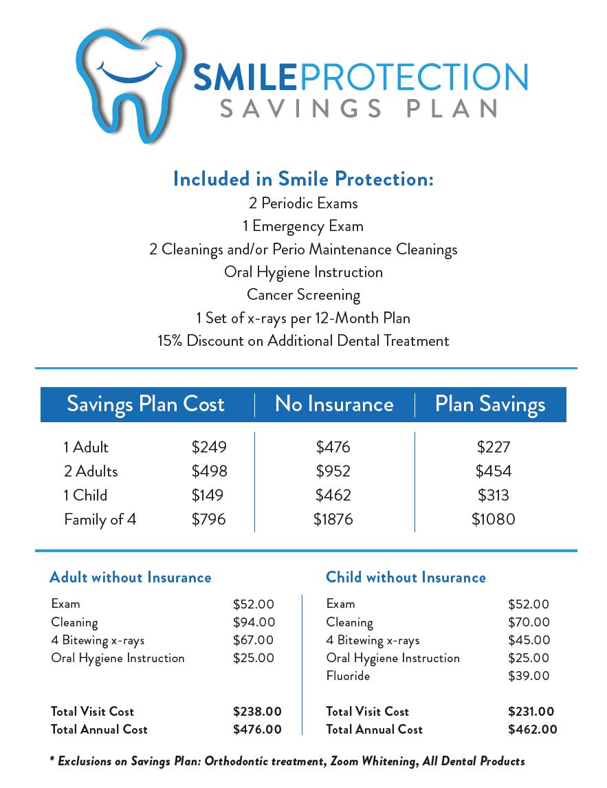Champaign Dental Group's Smile Protection Savings Plan