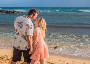 Beach Engagement Photo - Hawaii Ocean Photography