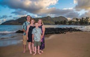 family photos on the beach - Hawaii Ocean Photography