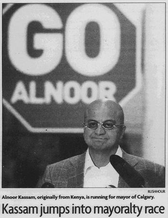 Alnoor Kassam announces his run for Calgary Mayor on May 29, 2007