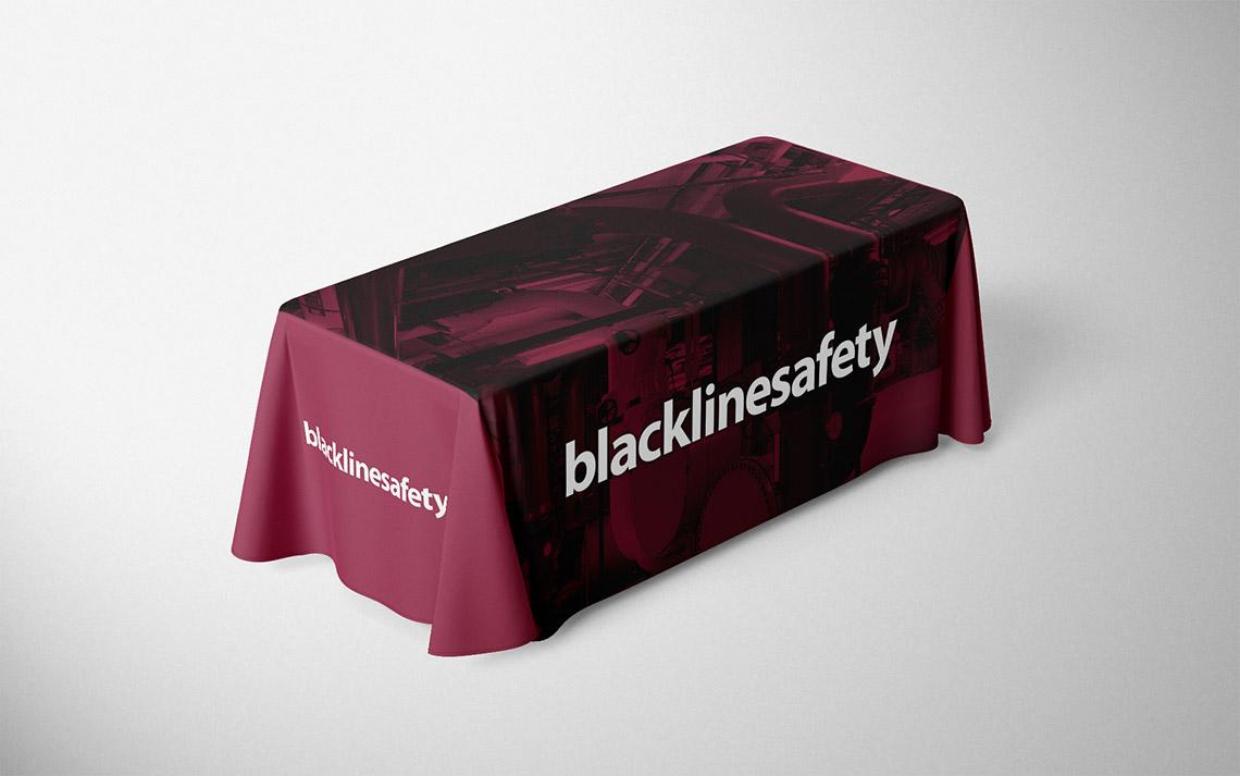 blackline safety table throw